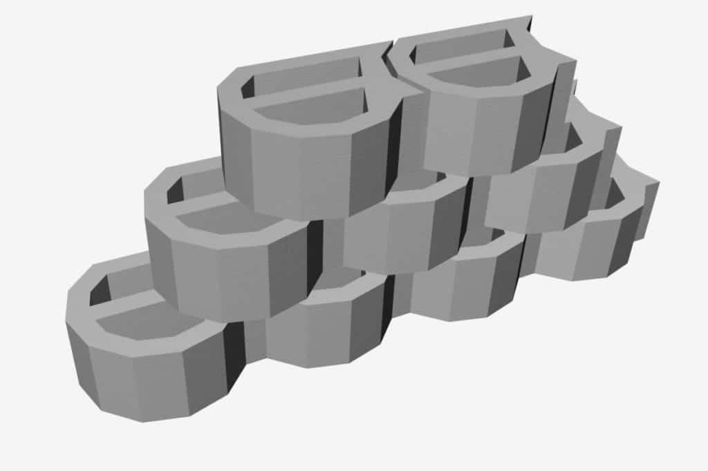 Conjunto de blocos de contenção CONTEC-CJ.