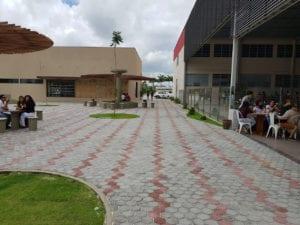 Piso Vincenzo aplicado na obra da Faculdade Adventista do município de Cachoeira, Bahia.